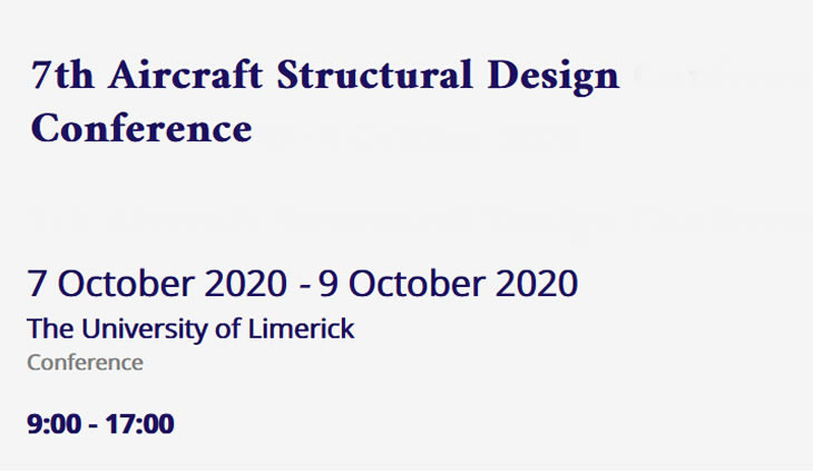 7th Aircraft Structural Design Conference 2020 - Limerick - Ireland