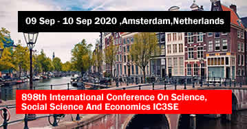898th International Conference On Science, Social Science And Economics IC3SE 2020 - Amsterdam - Net